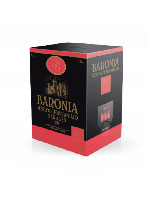 Vino tinto Bag In Box Baronía Premium