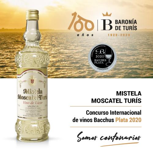 Mistela clásica Moscatel de Turís Plata Bacchus 2020