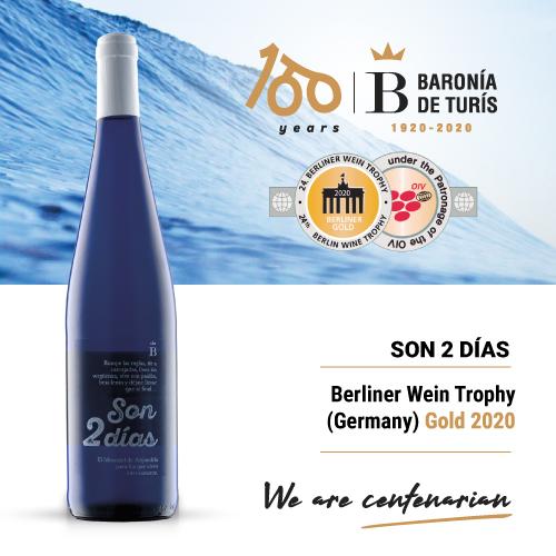 Fruity white wine Son 2 días Gold Berliner Wein Trophy 2020