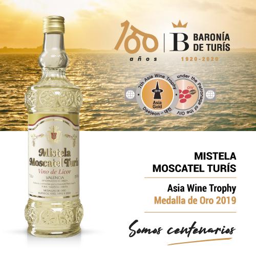 Mistela clásica Moscatel de Turís Oro Asia Wine Trophy 2019