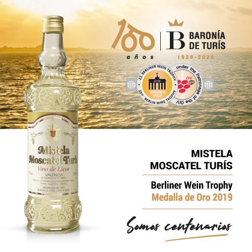 Mistela clásica Moscatel de Turís Oro Berliner Wein Trophy 2019