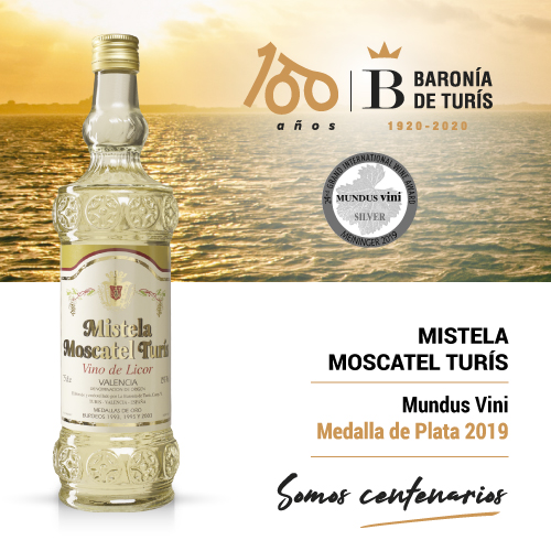 Mistela clásica Moscatel de Turís Plata Mundus Vini 2019