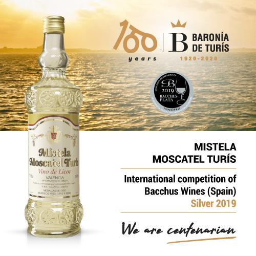 Mistela clásica Moscatel de Turís Silver Bacchus 2019