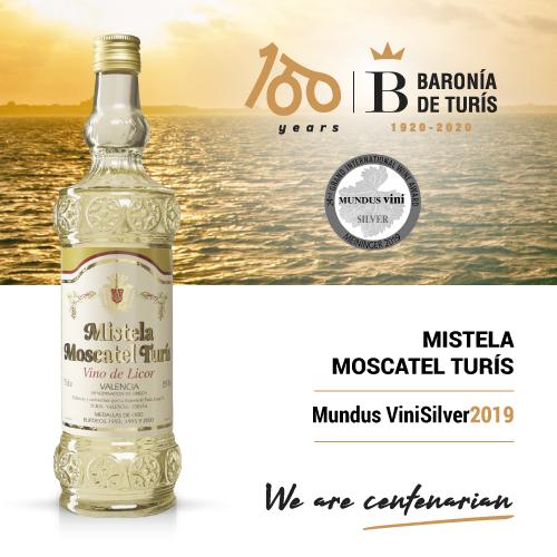 Mistela clásica Moscatel de Turís Silver Mundus Vini 2019