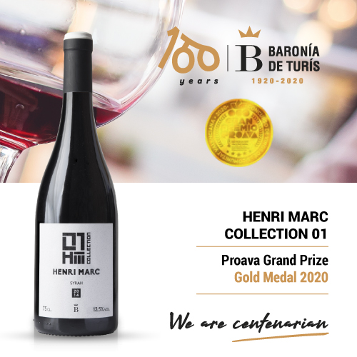 Monovarietal red wine Henri Marc 01 Syrah Gold Proava 2020