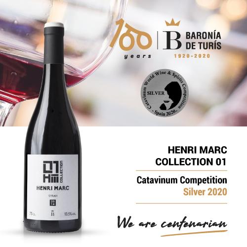 Monovarietal red wine Henri Marc 01 Syrah Silver Catavinum 2020