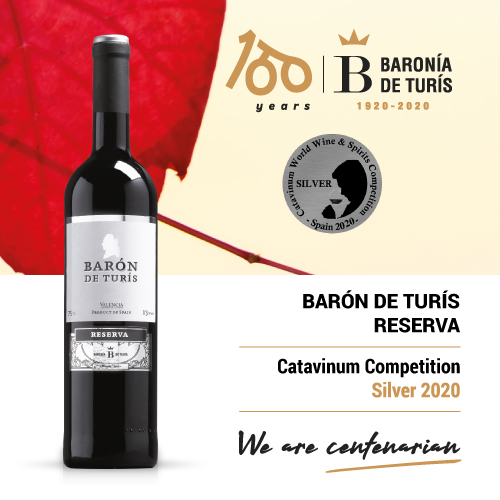 Reserve red wine Barón de Turís Silver Catavinum 2020
