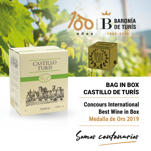 Vino blanco Bag in Box Castillo de Turís Best Wine in Box 2019