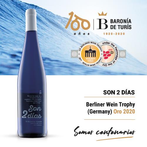 Vino blanco afrutado Son 2 días Oro Berliner Wein Trophy 2020