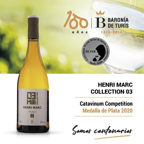 Vino blanco monovarietal Henri Marc 03 Malvasía Plata Catavinum 2020