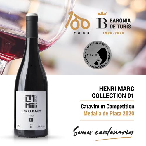 Vino tinto monovarietal Henri Marc 01 Syrah Plata Catavinum 2020
