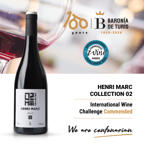 Vino tinto monovarietal Henri Marc 02 Merlot Commended in International Wine Challenge 2020