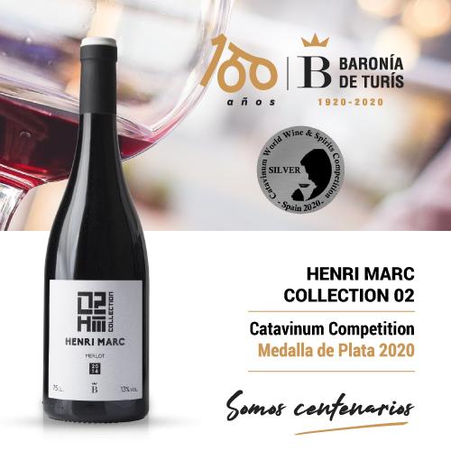 Vino tinto monovarietal Henri Marc 02 Merlot Plata Catavinum 2020