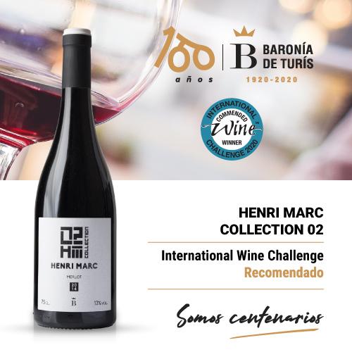 Vino tinto monovarietal Henri Marc 02 Merlot Recomendado en International Wine Challenge 2020