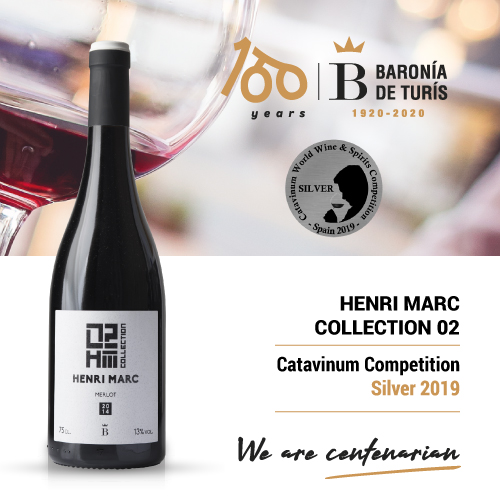 Vino tinto monovarietal Henri Marc 02 Merlot Silver Catavinum 2019