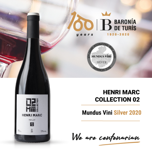 Vino tinto monovarietal Henri Marc 02 Merlot Silver Mundus Vini 2020