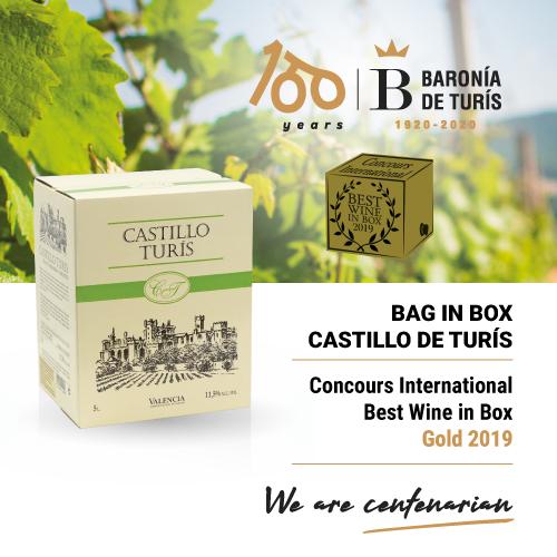 White wine Bag in Box Castillo de Turís Best Wine in Box 2019
