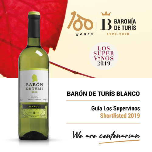 Young white wine Barón de Turís Supervinos 2019